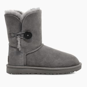 UGG Grey Bailey Button Boot